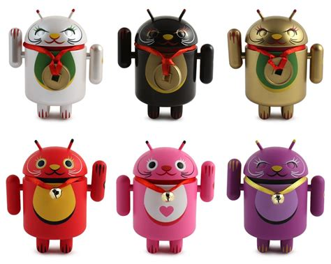 android figure the blot says android lucky cat mini figure series by shane jessup