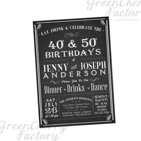 printable joint birthday party invitations joint adult birthday invitation eat drink by