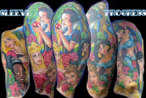 disney tattoo sleeve disney princess sleeve tattoos