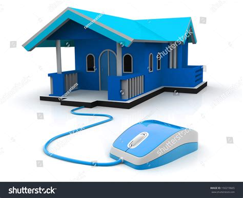 how to dominate a neighborhood with real estate farming books 3d illustration computer mouse connected house stock