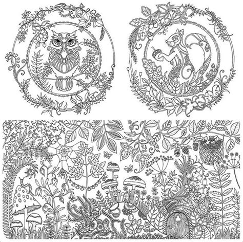 anti stress colouring book pages anti stress colouring book enchanted forest