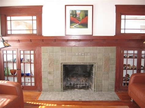 craftsman fireplace tile batchelder tile fireplaces san diego craftsman