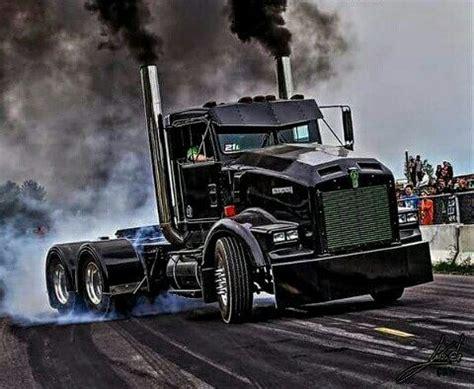 semitrckn kenworth custom  rollin coal trucks big rigs trucks kenworth trucks