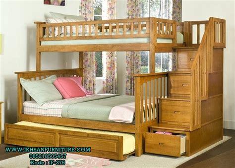 Daftar Ranjang Kayu Tingkat ranjang susun anak kayu jati model ranjang tingkat kayu