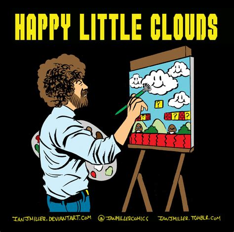 bob ross painting happy clouds happy clouds by ianjmiller on deviantart