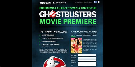 Cosmopolitan Magazine Sweepstakes - cosmopolitan com ghostbusters win a trip to the ghostbusters movie premiere