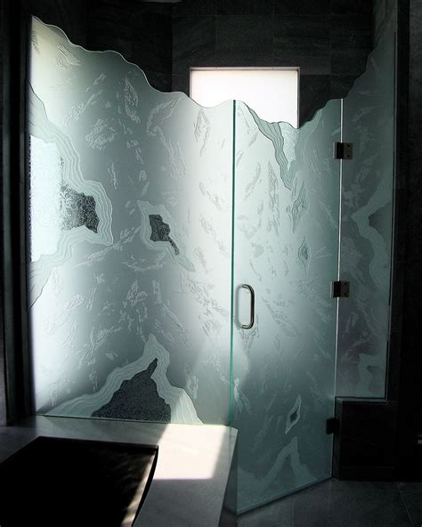 15 Decorative Glass Shower Doors Designs For A Bathroom Decorative Shower Doors