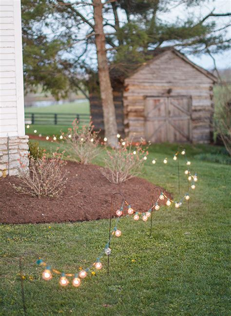 Backyard Wedding Lighting Ideas 15 Backyard Wedding Ideas That Reflects That Home Is The