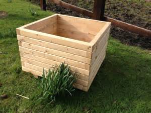 60 cm square wooden planter large pretty planter