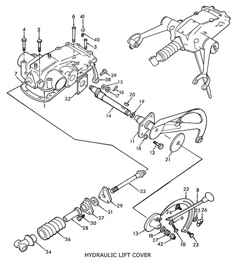 8n ford tractor parts diagram ford 8n hydraulic lift cover related
