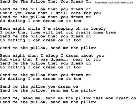 dolly parton song send me the pillow that you on