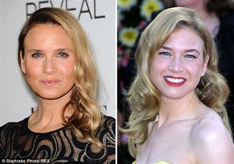 45 year old woman before and after surgery the changing face of renee zellweger daily mail online