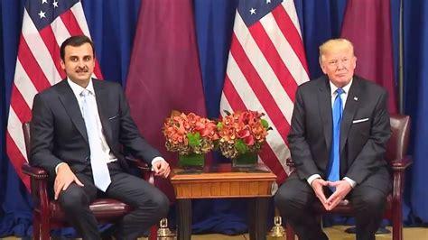donald trump qatar president trump meeting with the amir of qatar tamim bin
