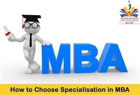 How To Select A College For Mba by How To Choose Specialisation In Mba Mangalmay Of