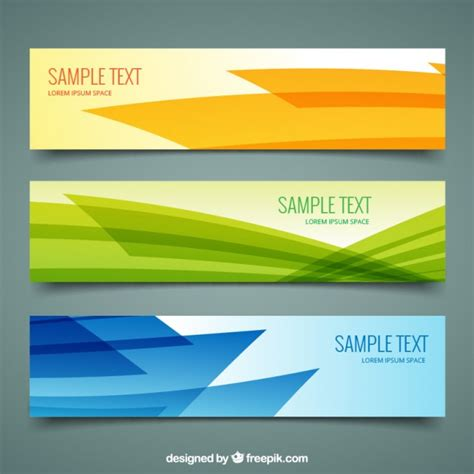 abstract design banners vector free download abstract banners pack vector free download