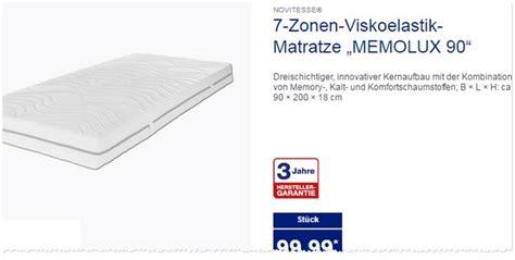 Matratze Aldi Nord novitesse matratze als aldi nord angebot ab 20 2 2017