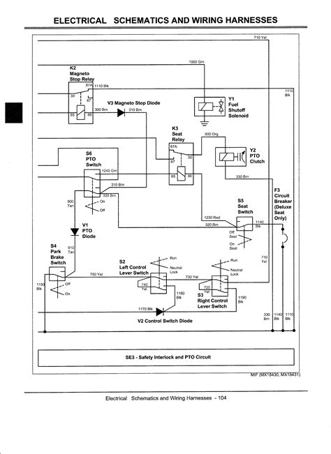 deere 717a mower wiring diagram deere 48 mower