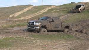 dodge ram 2500 in mud road 720p