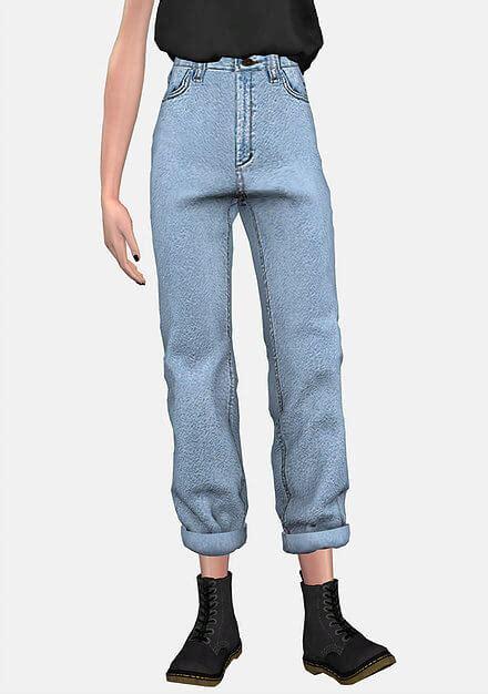 sims 4 cc boyfriend jeans spring4sims bf boyfriend jeans for the sims 4