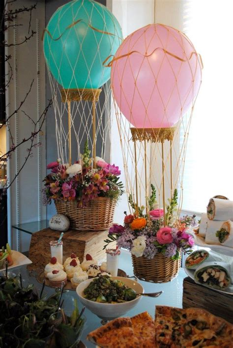 how to make a air balloon centerpiece by camille