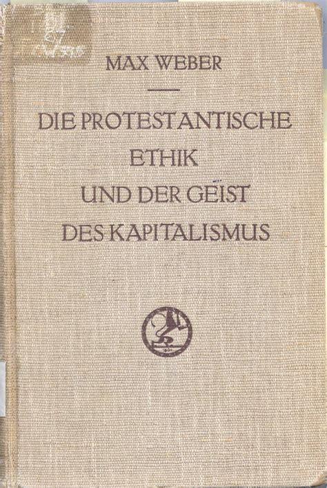 the layout book max weber die protestantische ethik und der geist des kapitalismus