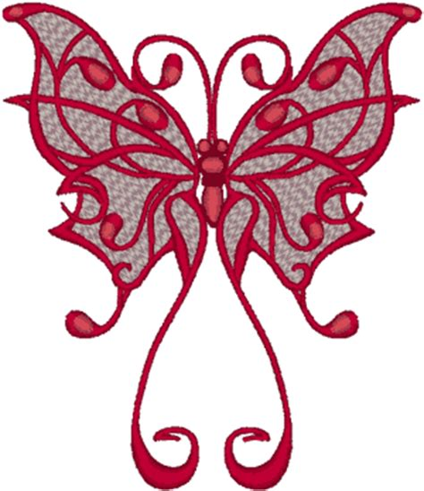 tribal style butterfly embroidery design