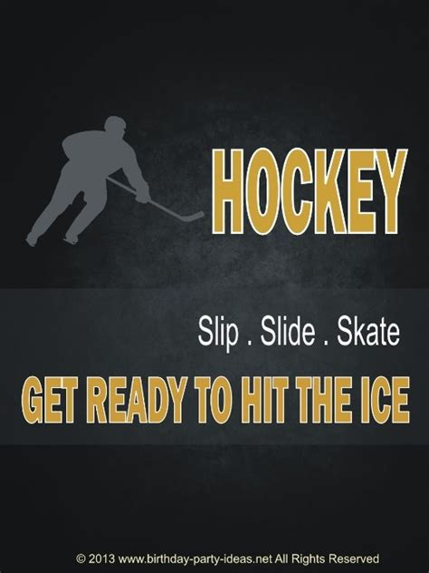 printable hockey quotes 1000 images about hockey birthday party theme on