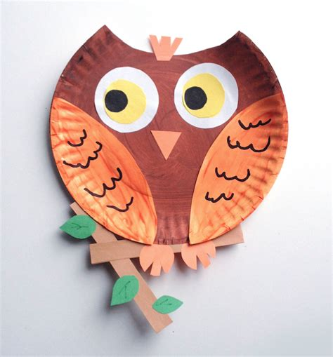 How To Make A Paper Plate Owl - paper plate animals blue manatee press