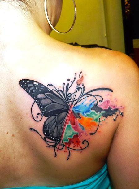 Butterfly Tattoos On Shoulder Blade Best Butterfly On Shoulder Blade Tattoo Idea