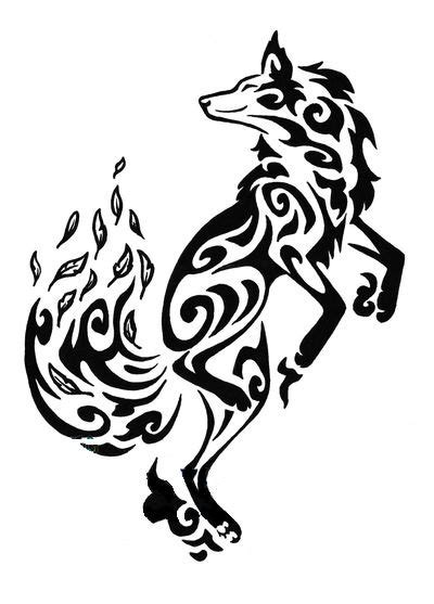 tribal coyote tattoos fox tattoos designs ideas and meaning tattoos for you
