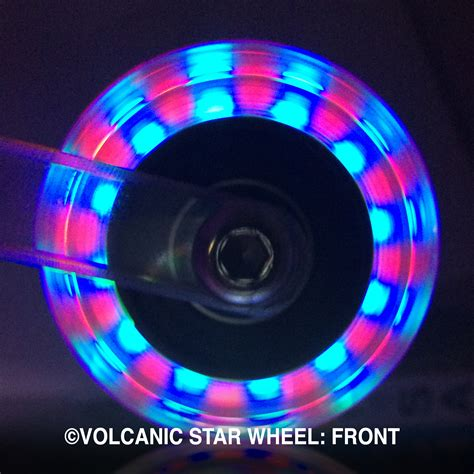 light up wheels for ripstik volcanic self lightup skate wheels 64 68mm youth