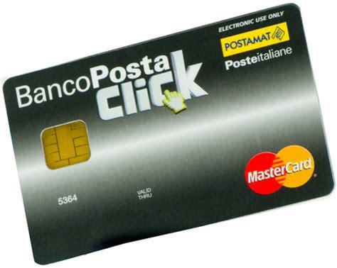 conto banco posta click caratteristiche di conto bancoposta click