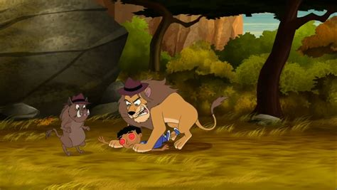 lion desk vs wise agent image robot baljeet and lion jpg phineas and ferb wiki