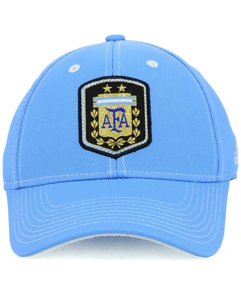 lyst adidas argentina world cup flex cap in blue for