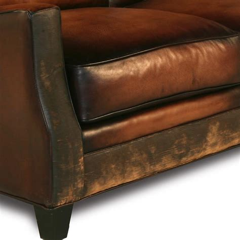 Handmade Leather Furniture - saddle brown leather sofa nina39s apartment