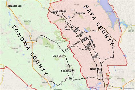 sonoma valley map wine country map sonoma and napa valley