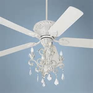 chandelier ceiling fan light casa deville rubbed white chandelier ceiling fan