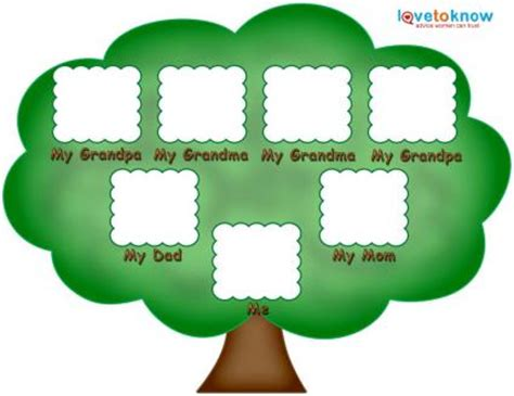 family tree printable templates free printable family tree template for children