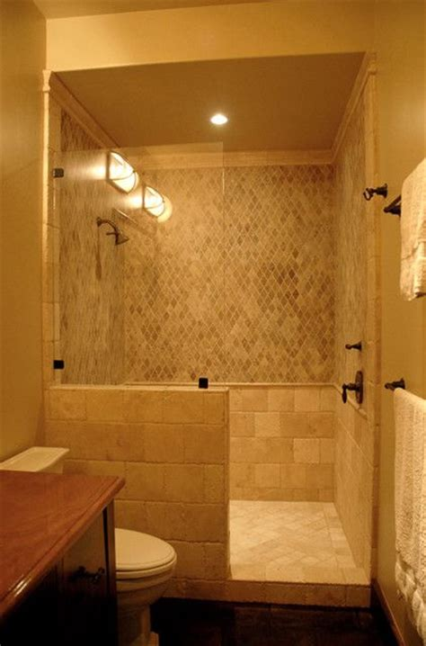 Doorless Shower Design Bathroom For The Home Pinterest Bathroom Layouts With Walk In Shower