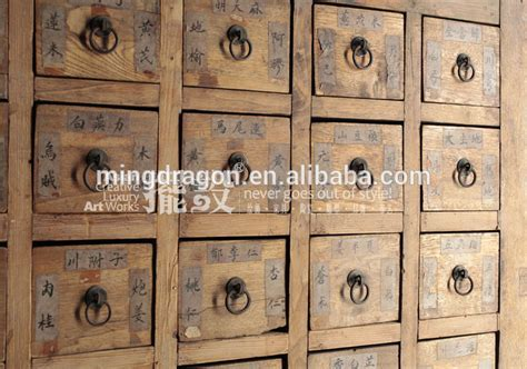 Chinese Antique Furniture  Many Drawers Distressed