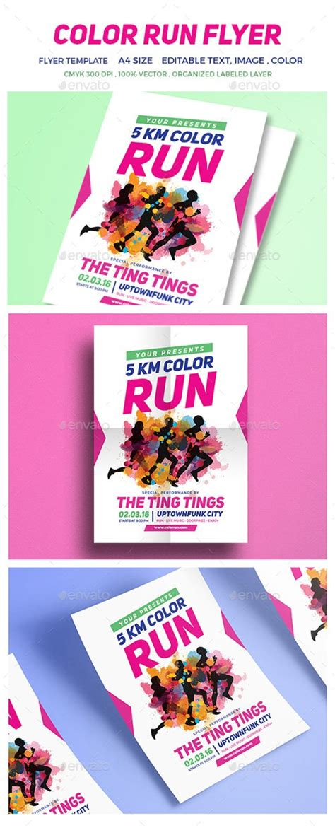 Color Run Festival Flyer 16712564 187 Nitrogfx Download Unique Graphics For Creative Designers Color Run Flyer Template