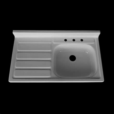 42 x 24 single bowl drainboard farmhouse sink