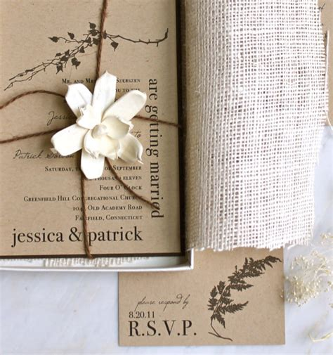 rustic photo wedding invitations simply by tamara seattle weddings rustic etsy