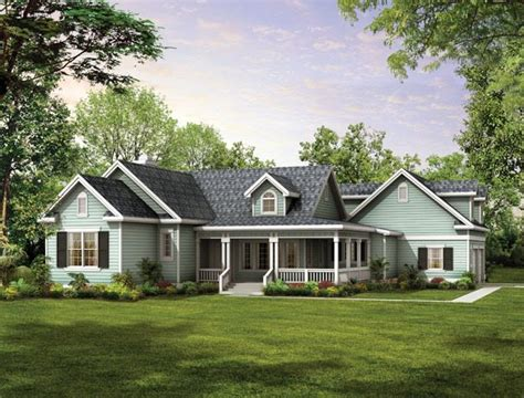 Gables Dormers And An Old Fashioned Covered Porch Create Country Home Plans With Covered Porches
