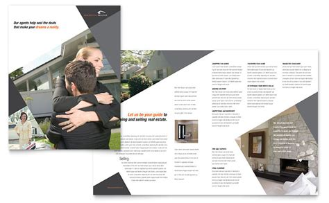 Contemporary & Modern Real Estate Brochure Template   Word