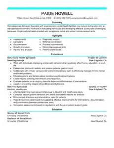 best behavior specialist resume example livecareer
