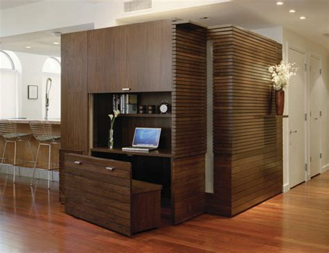 office built ins Home Office Contemporary with bookcase