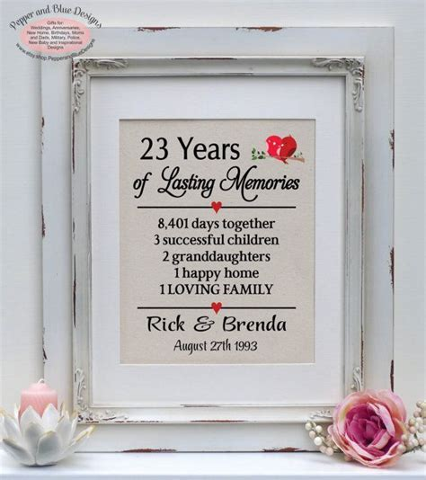 23rd wedding anniversary 23 years married by