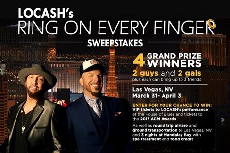 Comcast Sweepstakes 2017 - comcast locash s ring on every finger sweepstakes sweepstakesbible