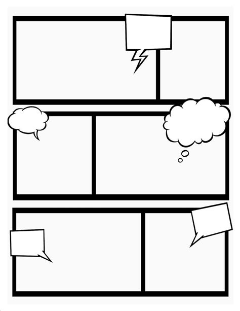 Comic Book Template Doliquid Comic Frames Template